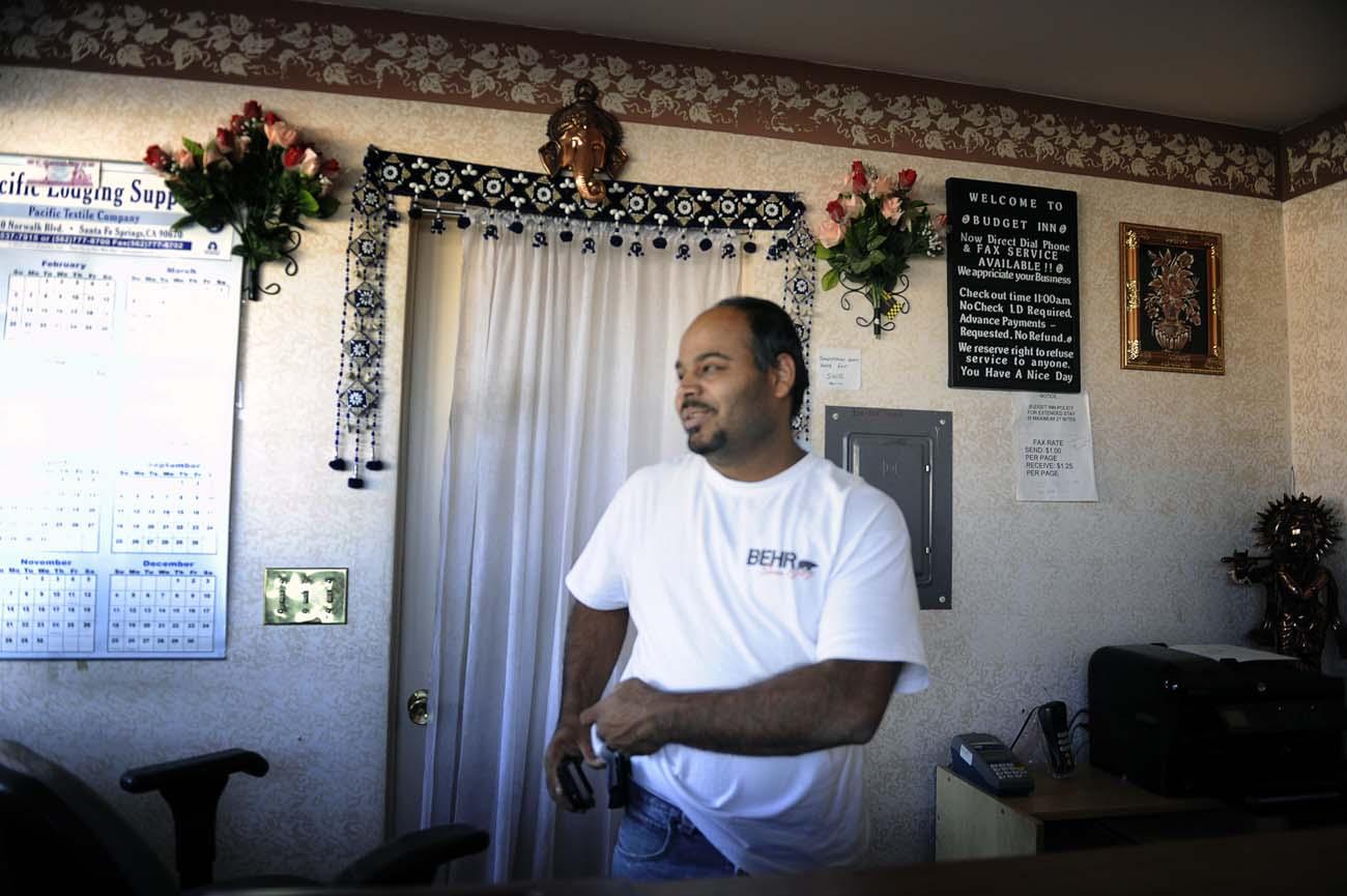 Paul Patel, ägare till Budget Inn
