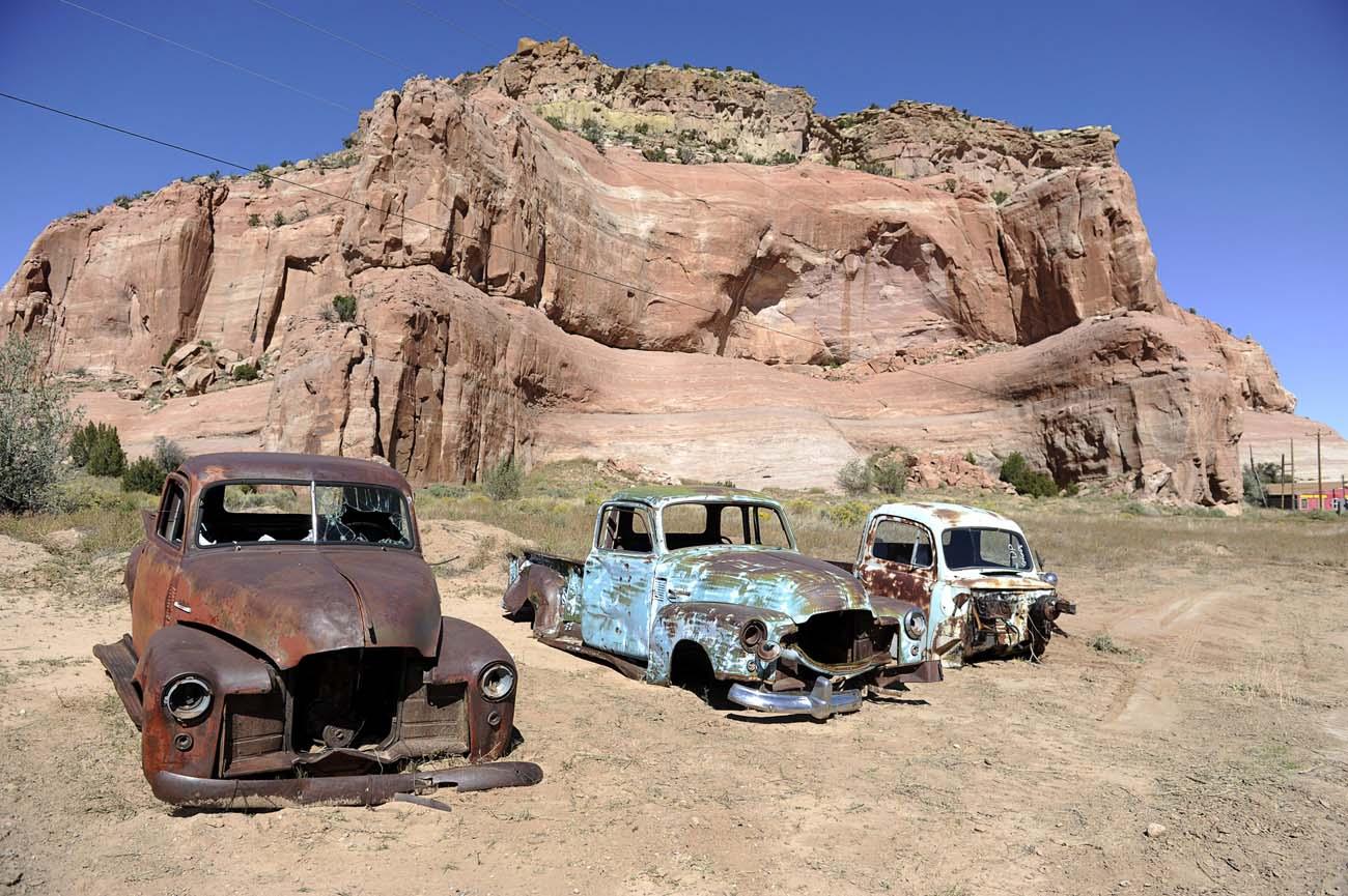 Några av Alvin Yellowhorses reservbilar från 40- och 50-talet